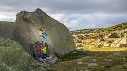 Bouldern in Hoya Moros, Spanien