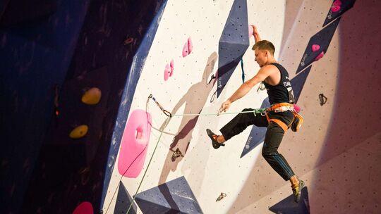 Christoph Hanke bei der Deutschen Meisterschaft Lead 2019