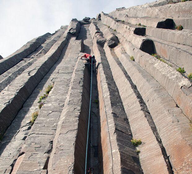 Felstypen und Gesteine: Basalt auf Island