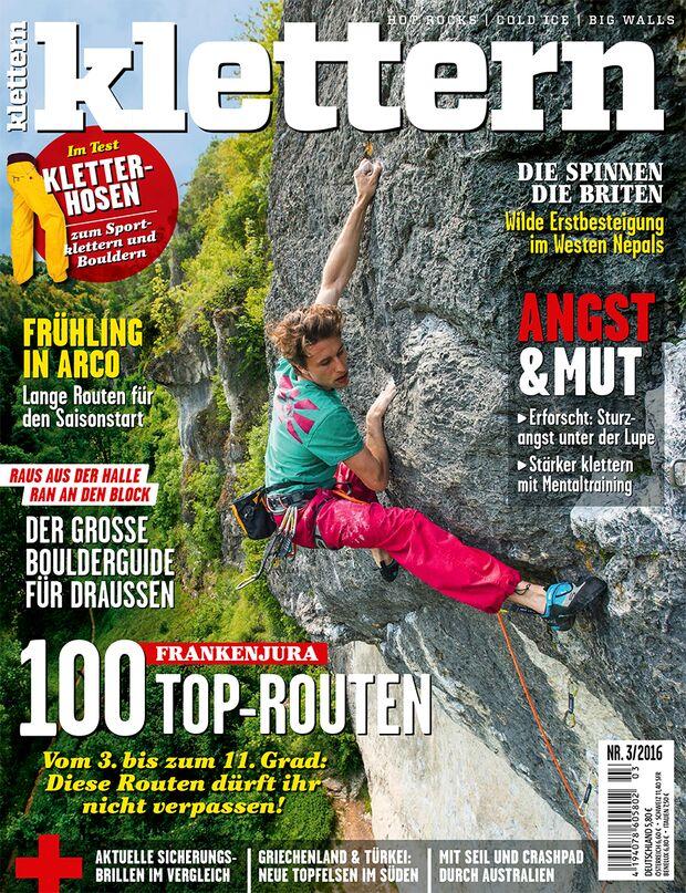 KL 03 - 2016 klettern Magazin cover Titel