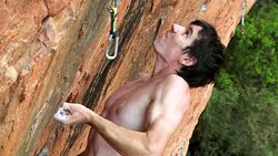 KL Alex Honnold pulling faces in ZA teaser