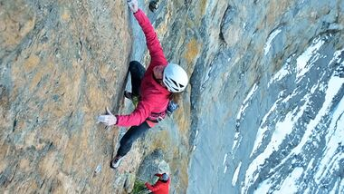 KL Babsi Zangerl & Jacopo Larcher klettern Odyssee 8a+,1400m an Eiger Nordwand