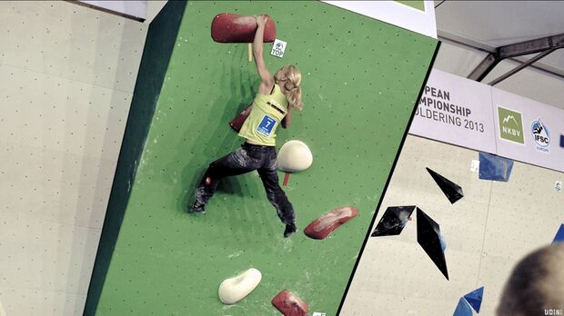 KL Boulder EM Eindhoven 2013_Monika Retschy aus Muenchen boulderte nur knapp am Podest vorbei (jpg)