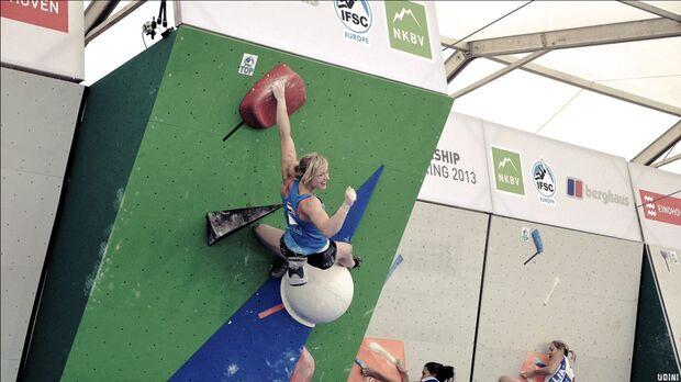 KL Boulder EM Eindhoven 2013_Vera Zijlstra kletterte bei ihrer Heim-EM auf einen guten 16. Platz (jpg)