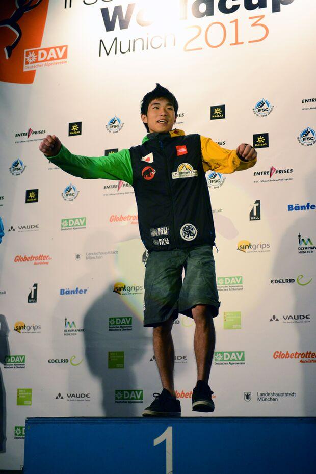 KL_Boulder Worldcup Muenchen 2013_Sieger Muenchen_Rei Sugimoto_JPN_SKE_7106 (jpg)