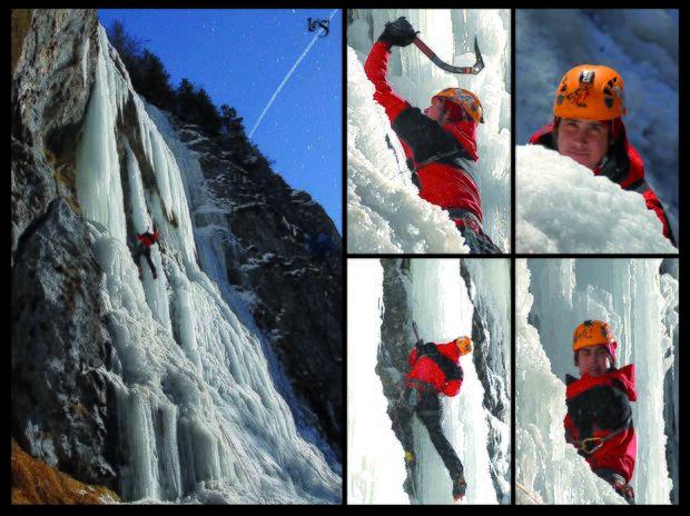 KL CEWE Fotowettbewerb 2013 Leserfotos Bernhard Leitner - Lesertext: Foto 1: Beim Eisklettern in Gastein. Ende der Saison - die Temperaturen sind zwar noch kalt aber die Sonne ist schon im Ausstieg. Die letzte Seillänge - leider zu lange in der Sonne und