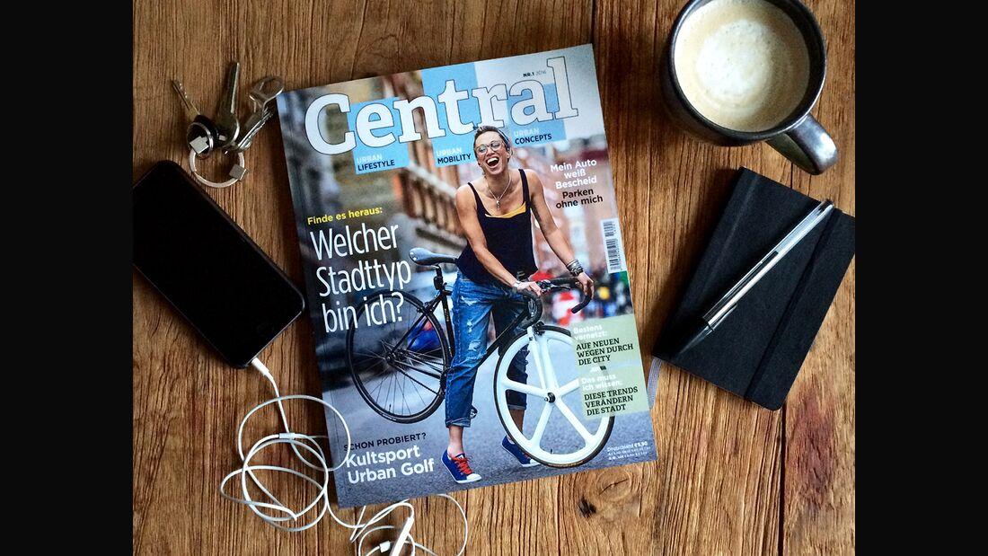KL Central Magazin teaser auf Holz