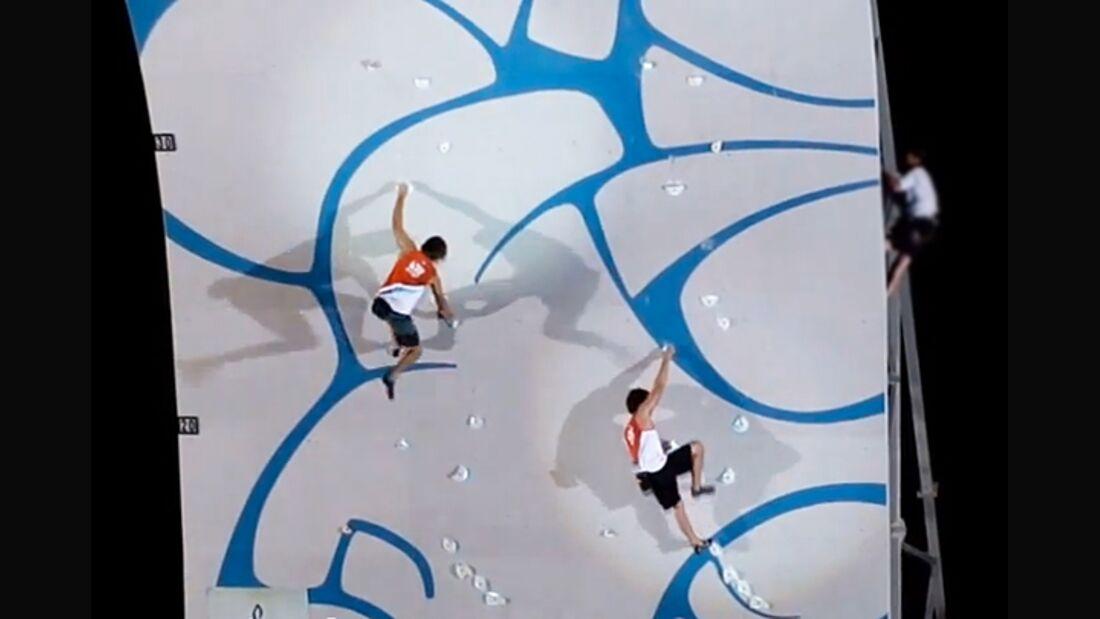 KL Chris Sharma + Joe Kinder Psycobloc DWS Climbing competition