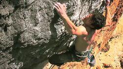 KL Daniel Jung climbing in Siurana La Rambla Vid vertikup.com Teaserbild