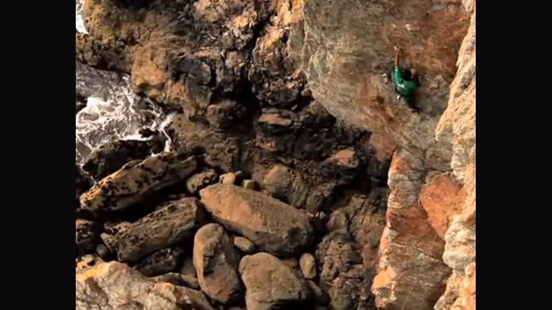 KL Erstbegehung Nick Bullock Frumious Bandersnatch Rhoscolyn Wales