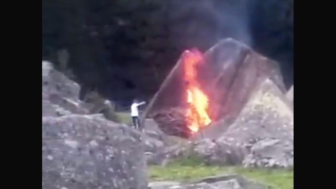 KL Feuer am Moonwalk 7a+ Sundergrund Zillertal