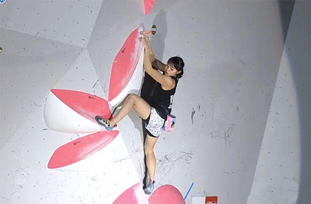 KL Futaba Ito im Finale im japanischen Bouldercup 2019