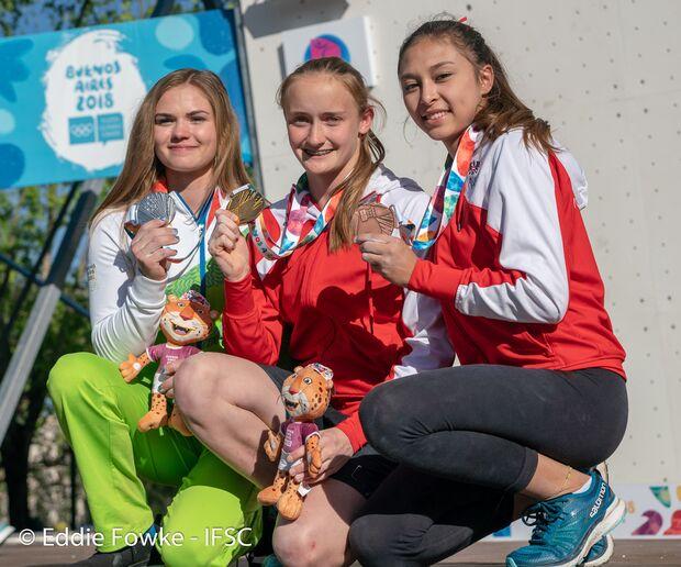 KL Gewinnerinnen Olympische Jugendspiele Sportklettern 2018