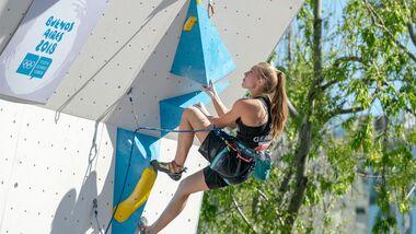 KL Hannah Meul bei den Olympischen Jugend-Spielen Buenos Aires Lead Final