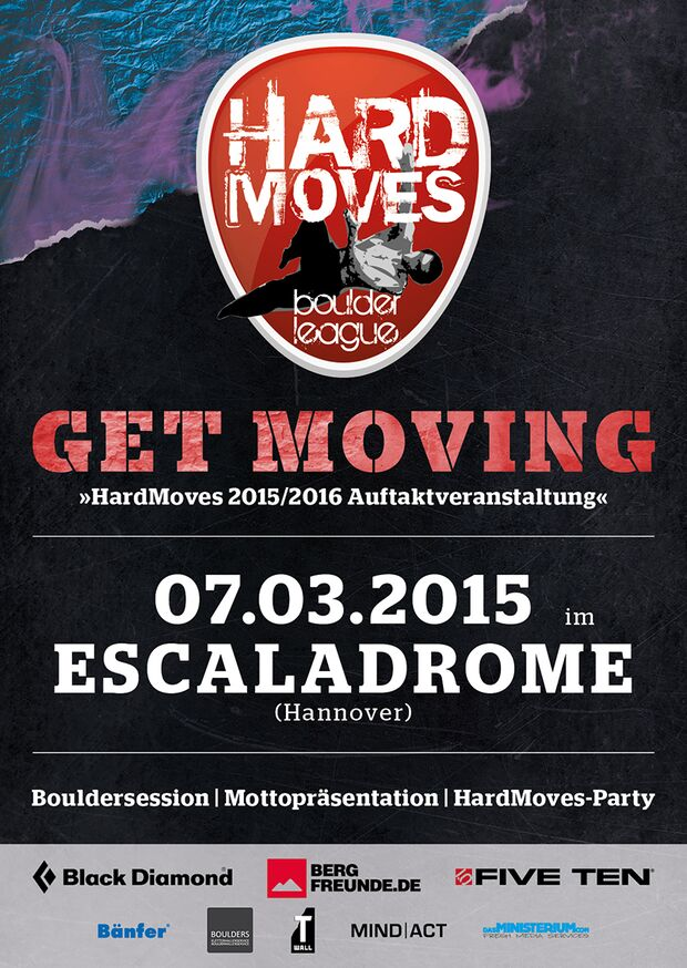 KL Hard Moves Boulderleague Flyer 2015
