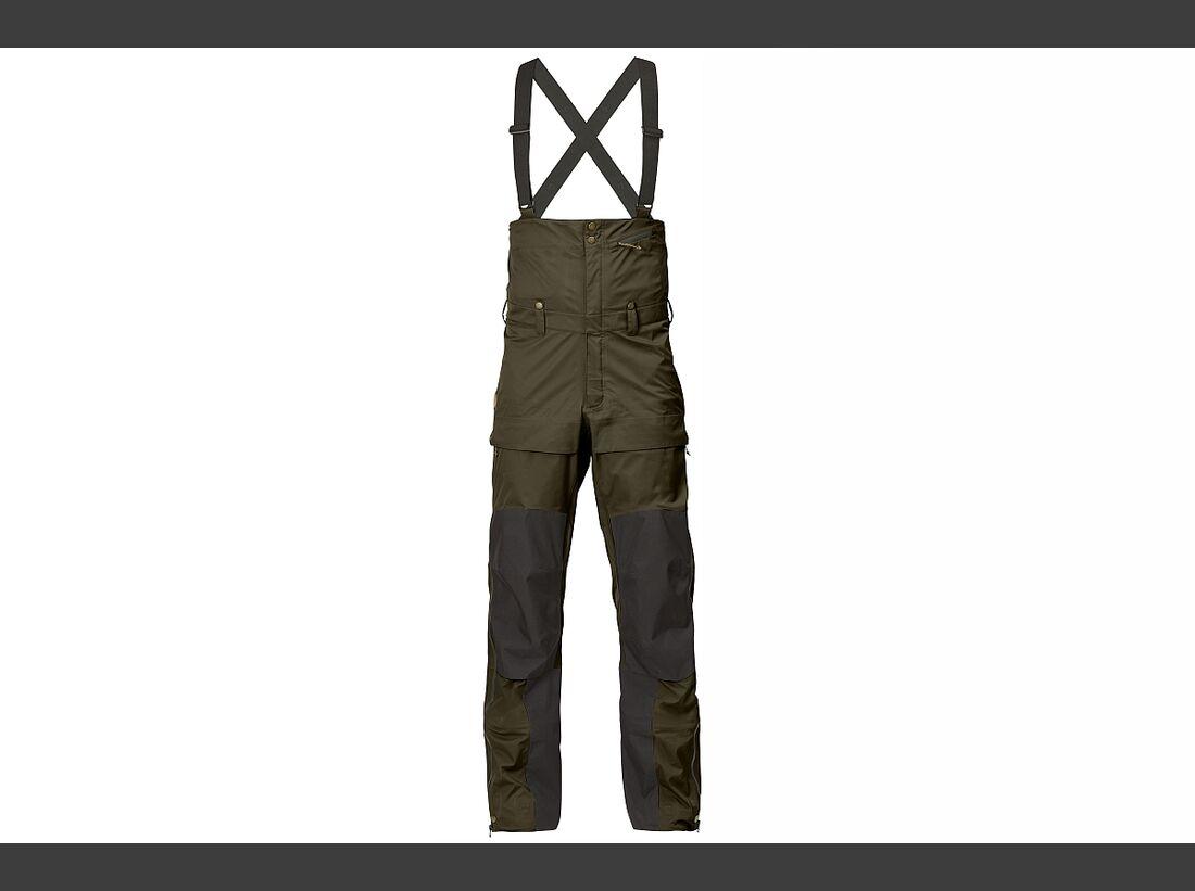KL-ISPO-Kletter-Equipment-Fjällräven-Eco-Shell-Bib-Trousers