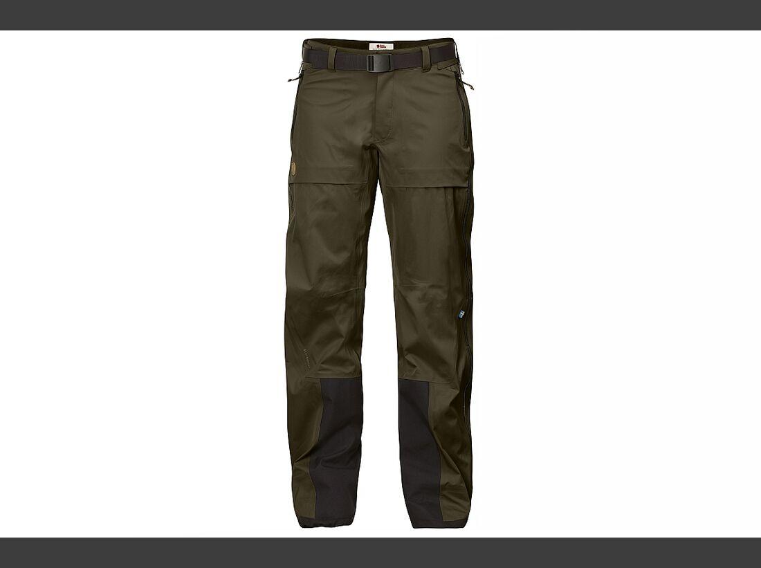 KL-ISPO-Kletter-Equipment-Fjällräven-Eco-Shell-Trousers
