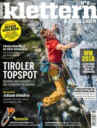 KL KLETTERN Magazin Titel 08-2018