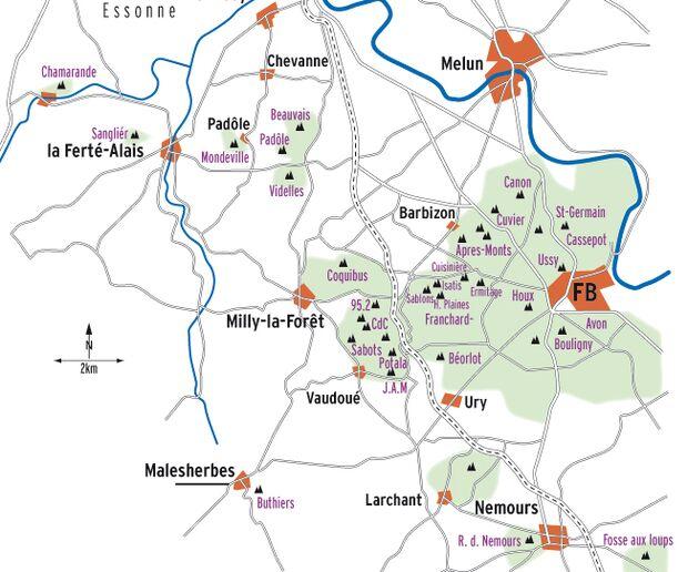 KL Karte Übersicht Fontainebleau
