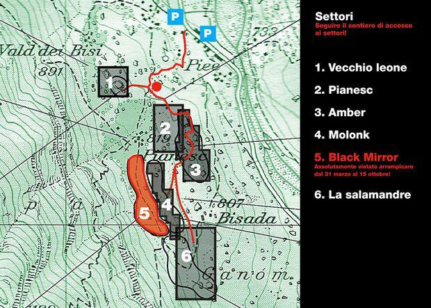 KL Karte Verzasca-Tal Bouldergebiet Brione von Sperrung bedroht