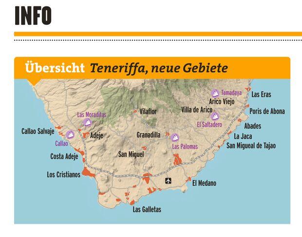 KL Klettergebiete Teneriffa Süden Karte