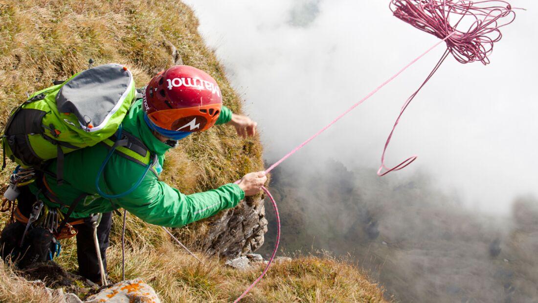 KL Kletterseil beim Abseil-Einsatz