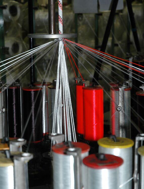 KL Kletterseil in der Produktion hochkant