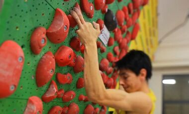 KL Klettertraining Pareti Michele Caminati Campus Griffbrett Systemwand