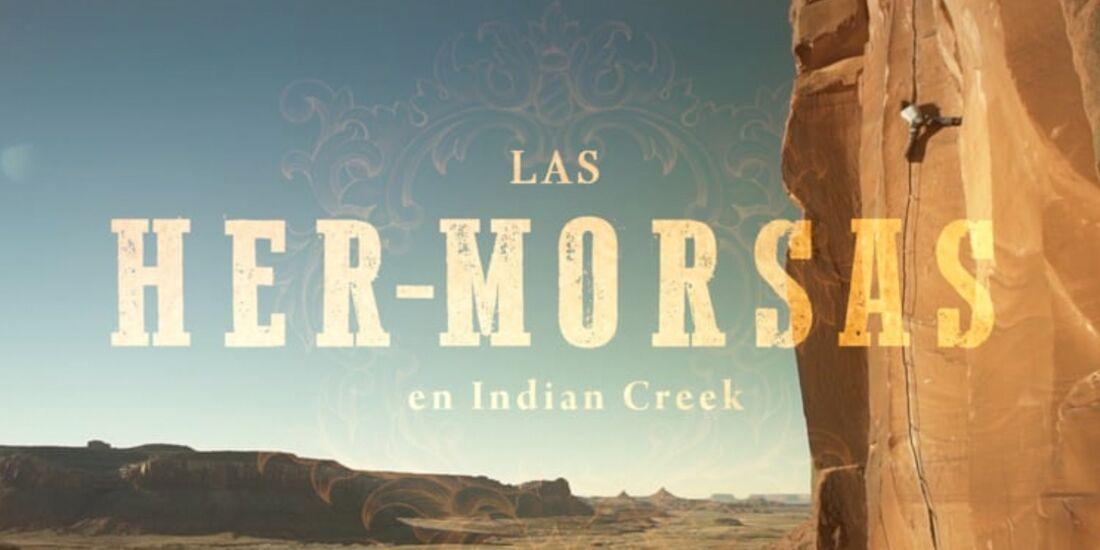 KL Las Her-Morsas escalando en Indian Creek