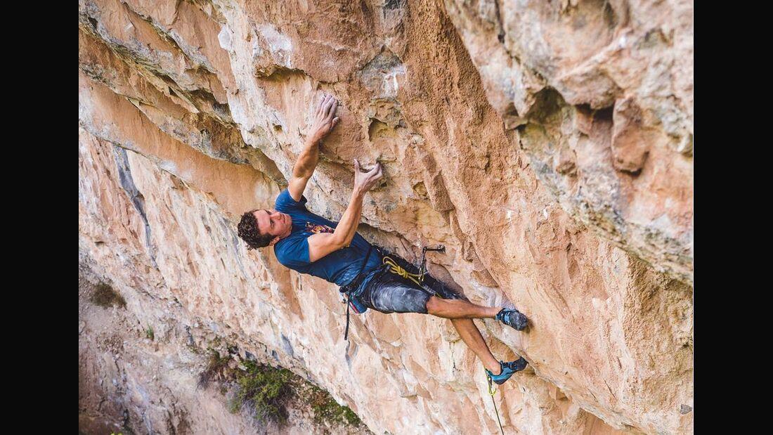 KL Matty Hong klettert in Rifle Colorado