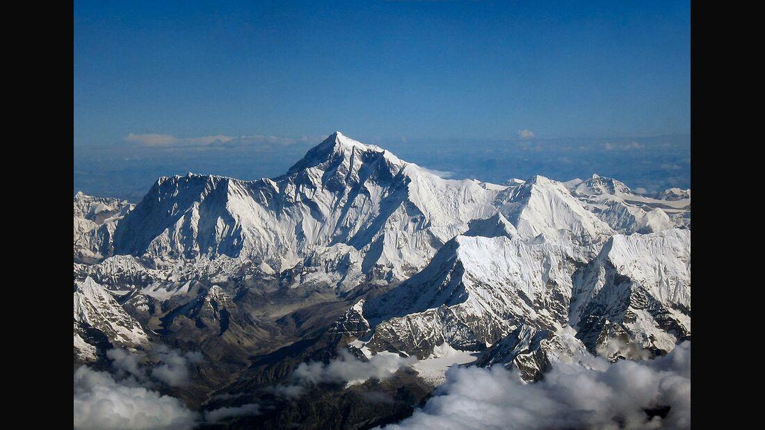 KL Mount Everest & Lhotse Luftaufnahme