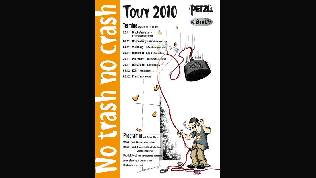 KL No trash no crash Petzl Tour 2010 Plakat