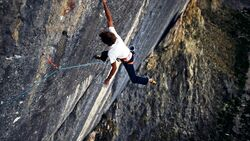 KL Pirmin Bertle klettert The Last Supper of the Lizard King 9b FA, Jansegg