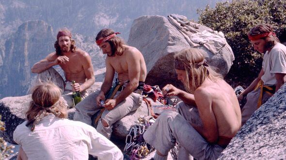 KL-Reelrock-2014-15-Dale-Bard,-Jim-Bridwell,-Fred-East,-Billy-Westbay,-Jay-Fisk,-top-of-El-Capitan's-Pacific-Ocean-Wall-1975,-ph-Werner-Braun_k (jpg)