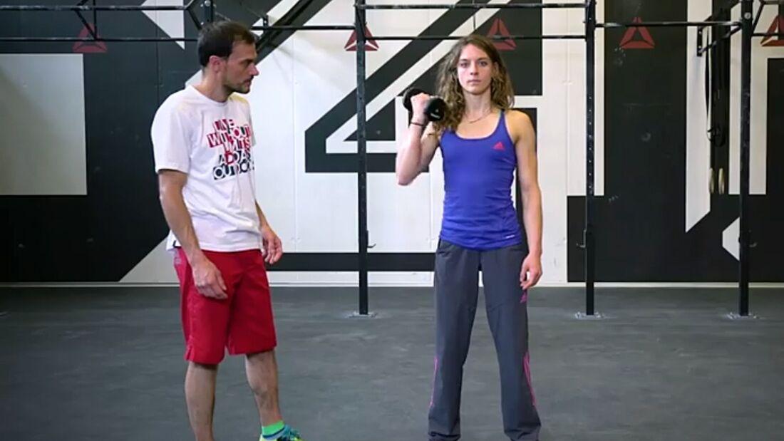 KL Schulter stabilisieren, Core stärken - Patrick Matros trainiert Melissa Le Neve