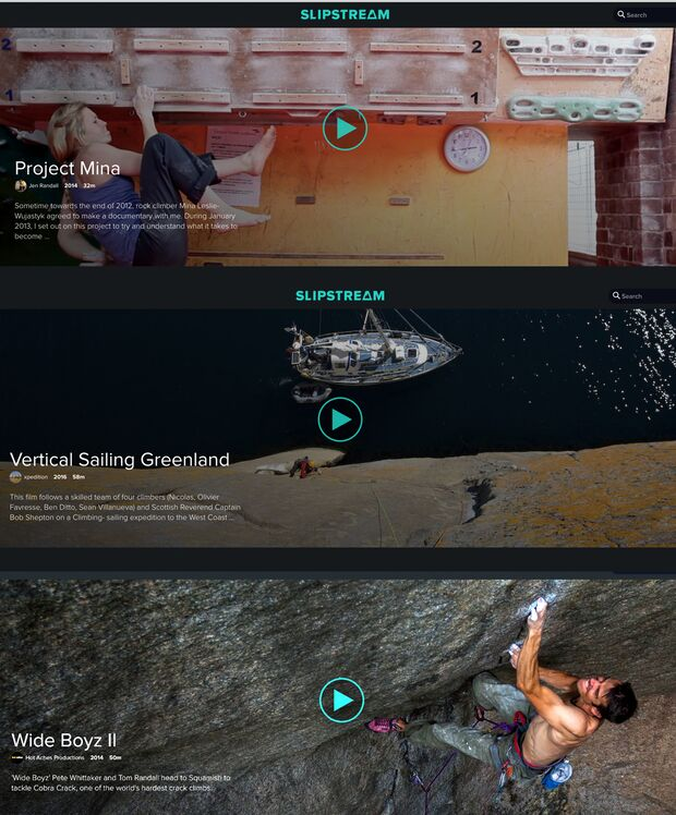 KL Slipstream climbing movies stream examples screenshot