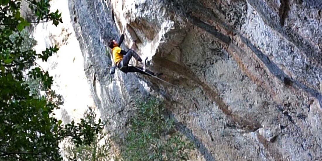 KL Stefano Ghisolfi klettert La Capella 9b Siurana