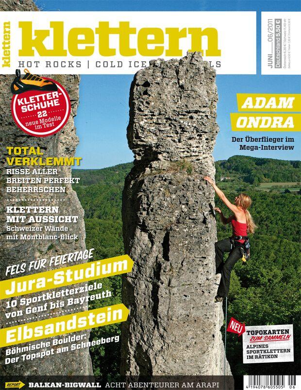 KL Titelbild Magazin klettern Juni 2011