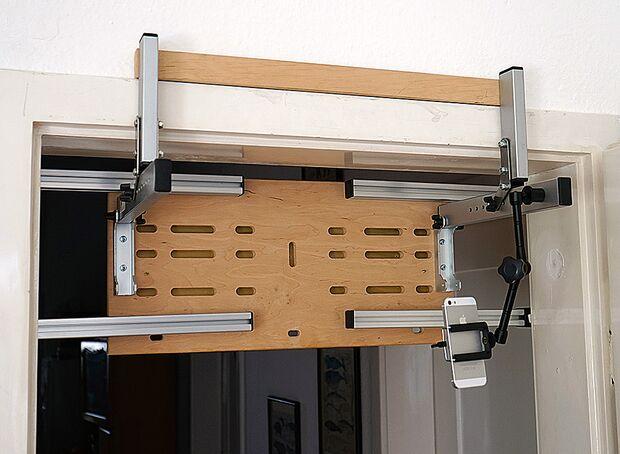 KL Trainingsboard-Halterung Smartrock rockbase flex test Rückseite