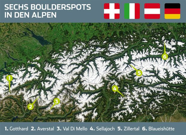 KL Überblick Alpenboulderspots