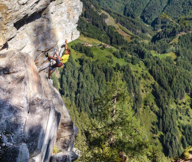Klettern am Falkenstein in Tirol