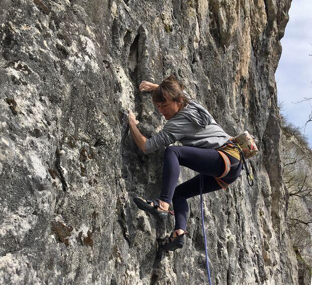 Klettern in Rurey, Frankreich