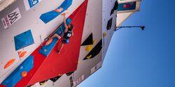 Kletterwettkampf: Alexander Megos beim Lead-Weltcup in Chamonix
