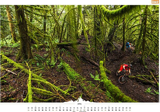 MB 2016 Kalender Best of Mountainbike 2017 April