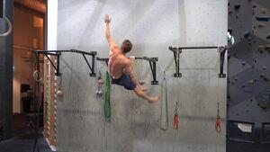 Magnus Midtboe trains climbing without climbing
