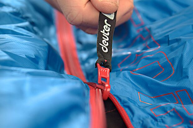 OD 1018 Schlafsack Test Detail Zipper