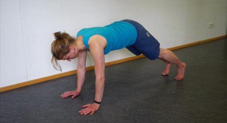Übung für Kletterer: Körpermitte stärken
