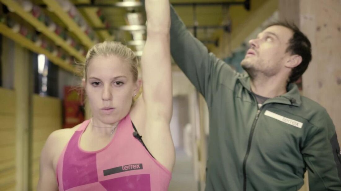 Weltmeisterin Petra Klingler trainiert